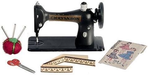 Melody Jane Dolls House Sewing Machine /& Accessories Set Chrysnbon Miniature