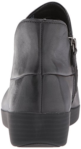 FitFlop Women's Supermod II Leather Ankle Boot, All Black, 11 M US by FitFlop (Image #2)
