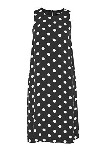 Hallhuber A-Linien-Kleid mit Tupfen A-Linie Schwarz