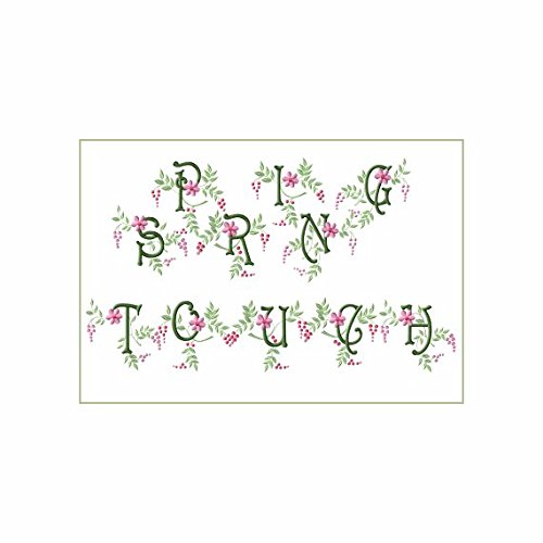 Abc Machine Embroidery Designs Set   Spring Touch Alphabet   26 Designs All Capital Letters   4X4 Hoop   Cd