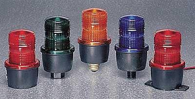 Pipe Mount Base; Low Profile Warning Light