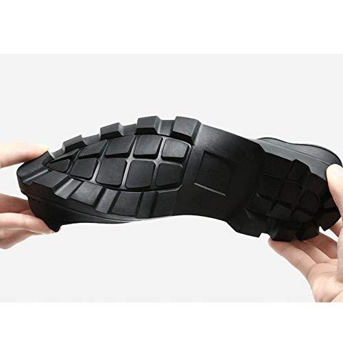 Caldo Caldo Caldo Cima da da da Pelle 44 Inverno qualità in Genuino Uomo 38 Caviglia Scarpe Stivali Impermeabile Uomo Black Taglia Alta wIYAdqY