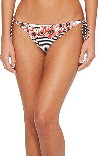 Vince Camuto Women's Blossom Stripes String Bikini Bottom White Multi (Stripe String Bikini Bottom)