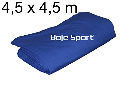 Telo ring pugilato 4,5 x 4,5 m - cotone robusto, blu