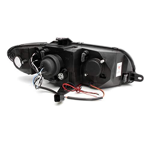 zmautoparts Halo Proyector de LED para faros delanteros negro ...