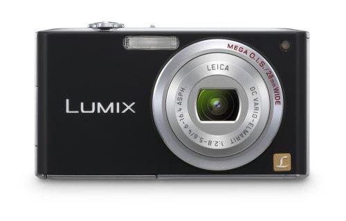 Panasonic Lumix DMC-FX33K 8.1MP Digital Camera with 3.6x Wide Angle MEGA Optical Image Stabilized Zoom (Black)