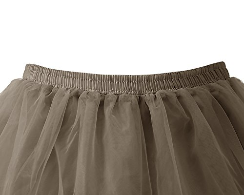 Rockabilly 50 Marron Femme Tutu Vintage annes Bridesmay Jupon Petticoat gvqwnR0
