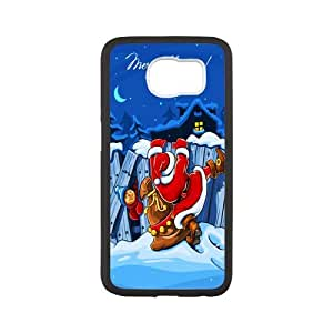 Durable Platic Case Cover for Samsung Galaxy S6-Christmas Santa Claus Pattern Printed Cell Phones Shell