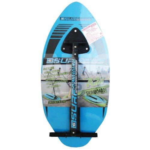 D6 SPORTS Surf Skimmer Wood Skimboard, 41-Inch, Blue