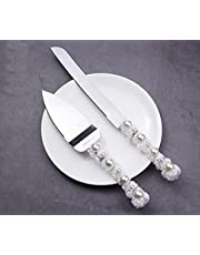 MBBITL Wedding Cake Server Set Stainless Steel Dessert Cutter Knife for Birthday Anniversary Holiday Baby Shower Party