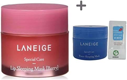 Laneige Lip Sleeping Mask,Berry 0.7oz(20g) + Gift (Water Sleeping Mask 15g + Form Cleanser)