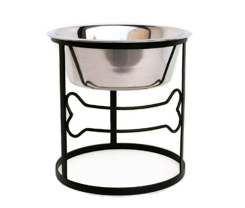 Bone Single Diner - Elevated Pet Bowl - 10'' Tall