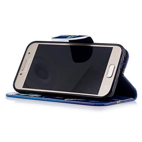 Para Samsung Galaxy A3 2017/A320 funda, (Un grupo de mariposas están bailando) caja del teléfono de la PU patrón en pintado ,Función de Soporte Billetera con Tapa para Tarjetas soporte para teléfono Un grupo de mariposas están bailando