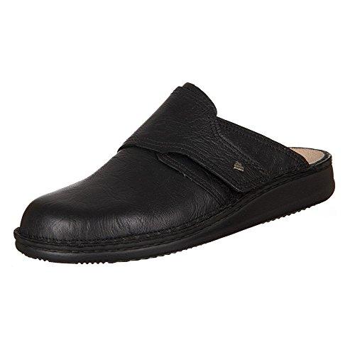 Finn Comfort Mens Amalfi Black Leather Sandals 7.5 US