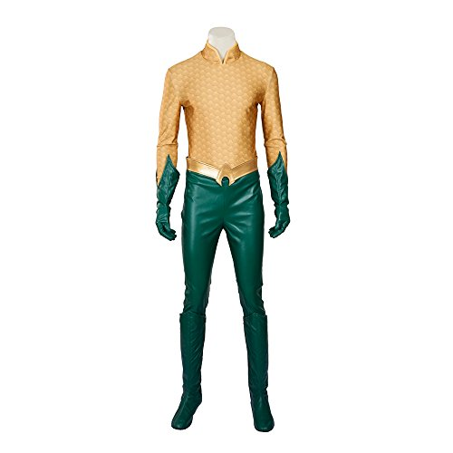 [MLYX Men's Aquaman Arthur Curry Orin Cosplay Costume Outfit Halloween Costumes for Men (X-Large)] (Aquaman Halloween Costumes)