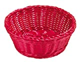 TableCraft Products HM1175A Basket, Assorted, PP, Round, 8.25'' x 3.25'' (Pack of 5)