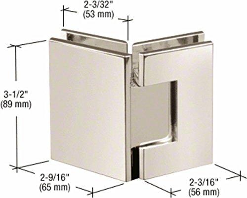 CRL Geneva 545 Series Polished Nickel 135° Glass-to-Glass ()