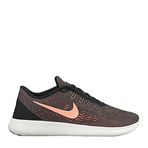Nike Women's Free Rn Running Shoe, Black/Lava Glow-Off White (6) (Nike Basketball Goals)