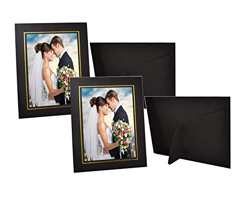 (Golden State Art Pack of 50, Cardboard Photo Easel Frame for 5x7 Photo, Black)