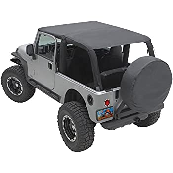 Smittybilt 93735 Black Diamond Extended Top for Jeep Unlimited LJ