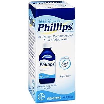 Philips Milk of Magnesia Saline Laxative Original Sugar Free, 4 oz