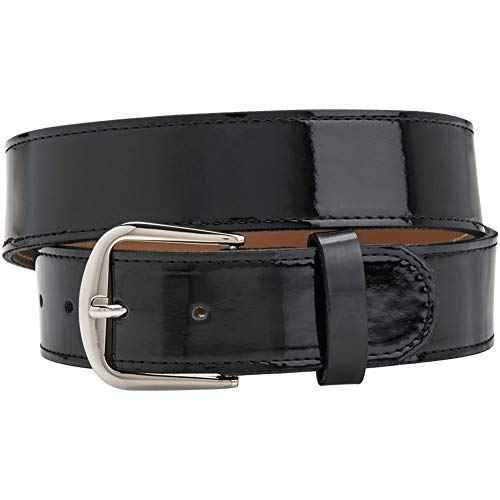 Champro Adult Patent Leather Baseball Belt Black ()
