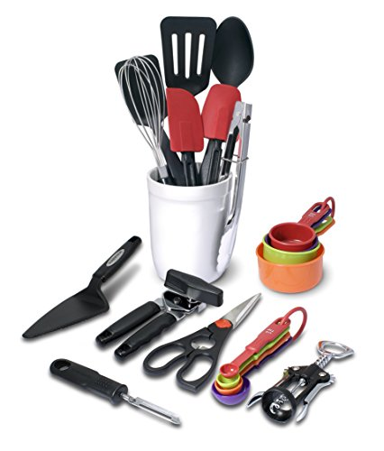 Farberware 21-Piece Tool and Gadget Set with Crock - Farberware Tongs