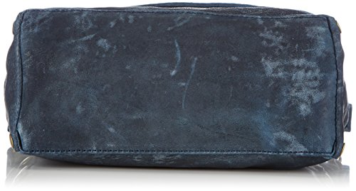 Frankies Garage Endy, Borsa a spalla Donna Blu (Blau (Denim Blue 036))