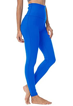 QUEENIEKE Womens Yoga Pants Power Flex High Waisted Sports Leggings Tummy Control Workout Pants with Pocket for Running Fitness Yoga(S, Dream Blue)