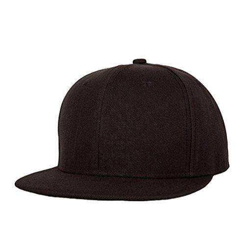 Clásico Hats Hop Snapback Sombrero Cap Plano Béisbol LINNUO Baseball Hip Hats Unisex Café Accesorios de Gorras 0wqWCX