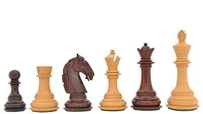Chessbazaar Handmade Triple Weighted Wooden Columbian Chess Set Bud Rose Wood 4 Queens