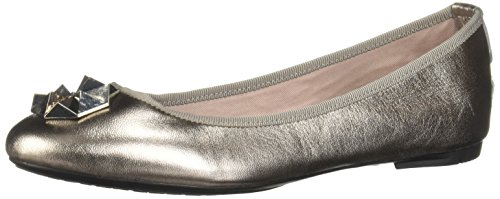 Closed Flats Silver Kate Women's Pewter 008 Butterfly Toe Twists Ballet cWgqUt
