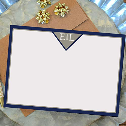 Mens Stationary Paper and Envelopes Set - Personalized - Set of 10 - Two Color Choices! ()
