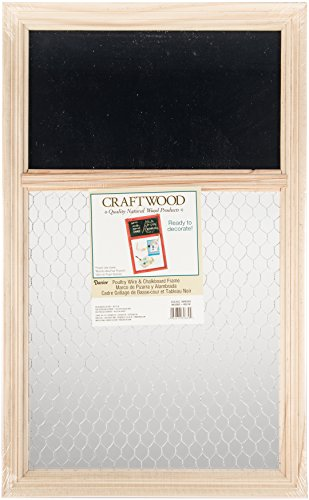 Darice 9190-9632 Unfinished Chalk Board with Chicken Wire, 13.75 by 22-Inch ()