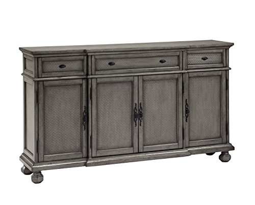 Treasure Trove Accents 17480 Three Drawer Four Door Credenza, Burnished (Large Sideboard)