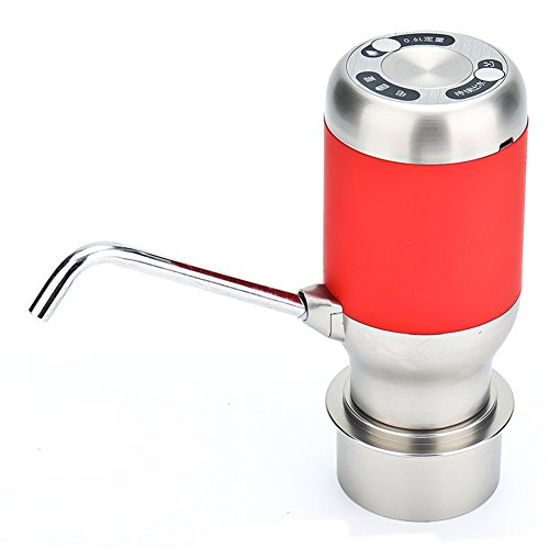 Water Pump Dispenser, USB Rechargeable Electric Drinking Water Pump For 5 Gallon Bottle,with 2000ma Lithium Battery & Charging Line(Red) by cyclamen9 (Image #1)