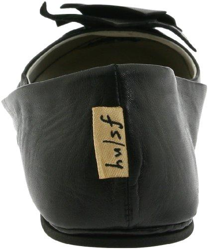 Franska Enda Fs / Ny Kvinna Säsongen Balett Platt Svart Läder