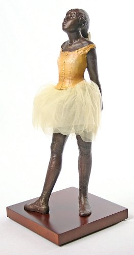 - Parastone Degas Fourteen Year Old Little Dancer Ballerina with Tutu Fabric Skirt, Large 13.5H
