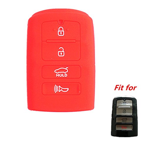 WFMJ New Red 4 Buttons Silicone Case Protector Key, used for sale  Delivered anywhere in Canada
