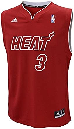 Amazon Com Adidas Miami Heat Dwayne Wade Toddler Jersey Sports Outdoors