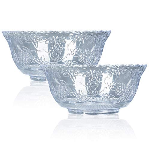 Chefible Durable Plastic Punch Bowls, Elegant, Resilient and Professional - Set of 2 by Chefible®