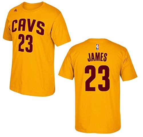 a633cdf9e Lebron James Cleveland Cavaliers Gold Jersey Name and Number T-shirt