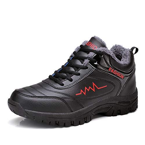 LOVDRAM Stiefel Männer Männer Männer Winter Männer Schnee Stiefel Dicke Warme Baumwolle Schuhe Herrenschuhe Mittleren Alters Alter Mann Schuhe Dicken Boden Rutschen 02b31a