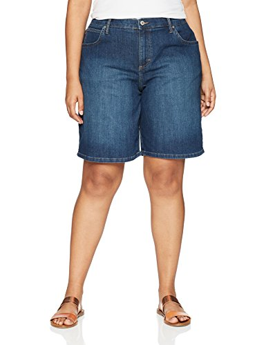 LEE Women's Plus Size Relaxed-Fit Bermuda Short, Journey, 18W (Plus Denim Shorts)