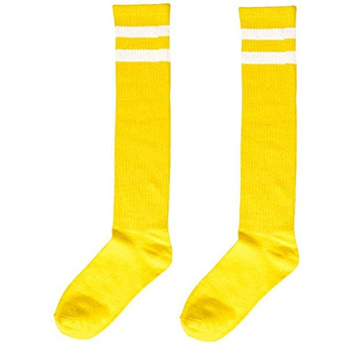 Amscan Stripe Knee Socks, Party Accessory, Yellow