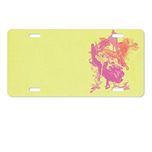 Cover Paint Splatter Background Aluminum License Plate 12