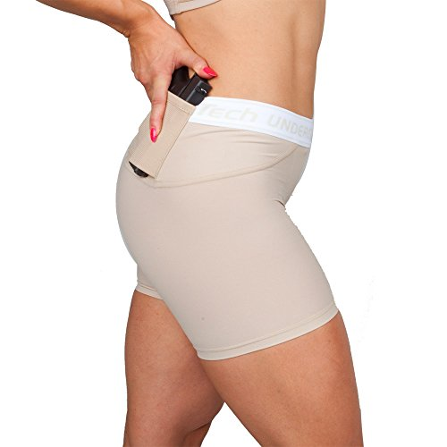Women's Concealment Shorts by UnderTech Undercover (Medium, Nude)