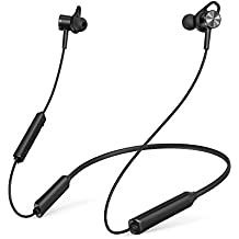 TaoTronics Neckband Bluetooth Headphones with ANC Active Noise Cancelling Wireless Headphones with Built-In Magnets IPX5 Splashproof 16 Hour Playtime & cVc 6.0 Noise Cancelling MEMS Mic