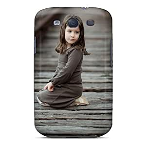CADike KdHqYJW6982sogxx Case Cover Galaxy S3 Protective Case Girl Railway Track