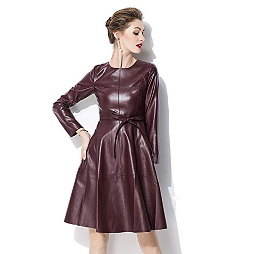 In Line Red Stile Elegante XL Da JIZHI Abito Unita Tinta A Donna 4wxqIc0Rv
